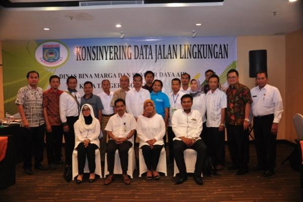 Kegiatan Konsinyering Data Jalan Lingkungan yang digelar DBMSDA Kota Tangsel. (ist)