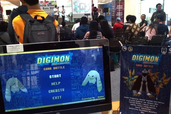 Game karya kreasi mahasiswa yang dipamerkan pada Computer Science Expo. (bd)