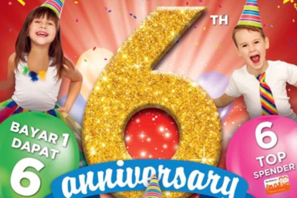 Program penawaran HUT ke-6 Toys Kingdom. (ist)