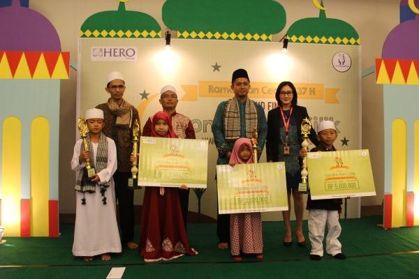 Inilah pemenang Lomba Da'i Cilik 2016 HERO Group. (ist)
