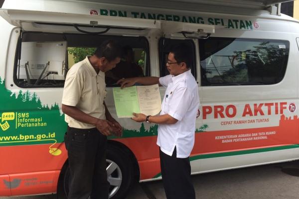 Pelayanan Keliling selama Ramadan BPN Kota Tangsel. (man)