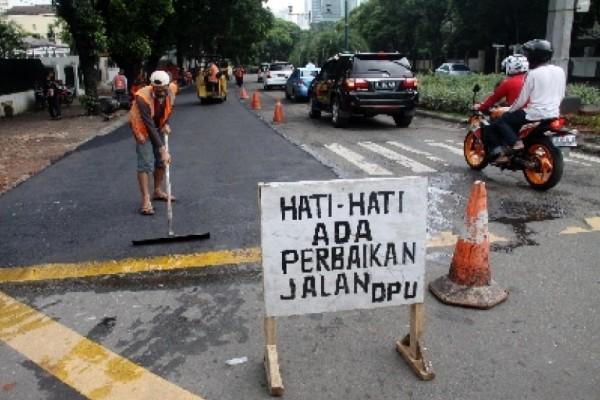 Ilustrasi perbaikan jalan. (net)