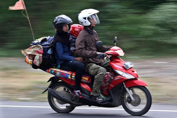 Ilustrasi pemudik sepeda motor. (dok)