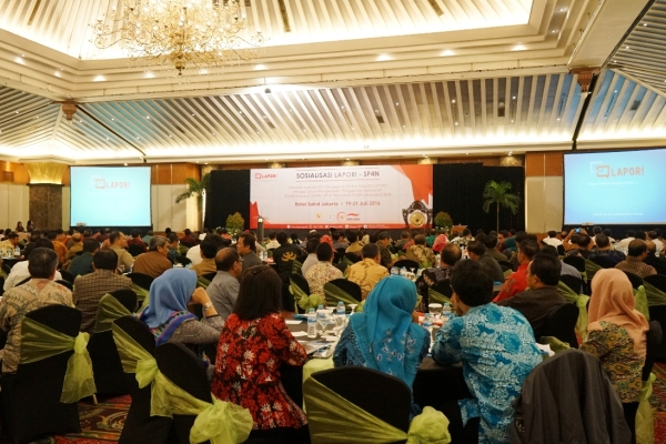 Sosialisasi LAPOR SP4N di Jakarta. (ist)