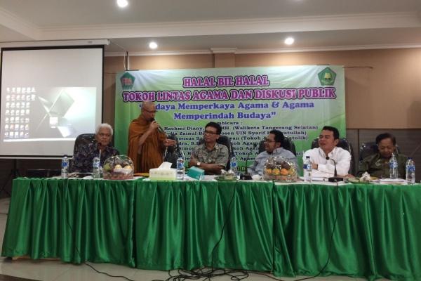 Diskusi publik tokoh lintas agama di Kota Tangsel. (she)