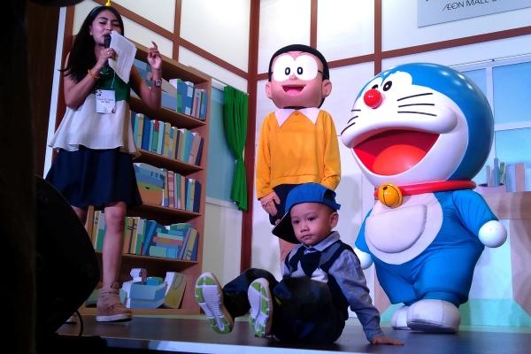 Live show Doraemon dan kawan kawan di Aeon Mall BSD City. (bd)