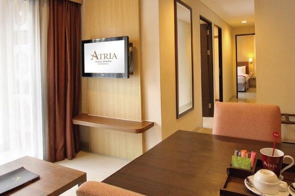 Desain kamar di Atria Hotel & Residences Gading Serpong. (ist)