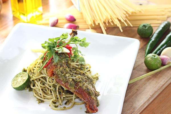 Spaghetti Lado Mudo, menu andalan Atria Residences Gading Serpong. (ist)