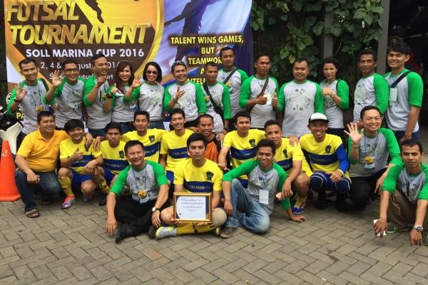 Peserta turnamen futsal Soll Marina Cup 2016. (nad)