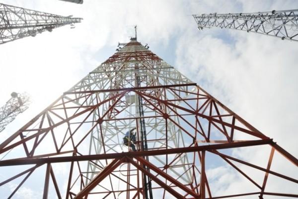 Ilustrasi menara BTS operator seluler. (net)