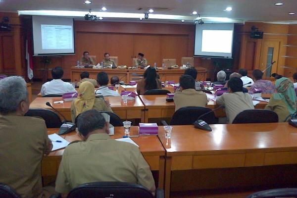 Rapat perluasan Bandara Soekarno Hatta di Gedung Setda Pemkab Tangerang. (day)
