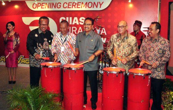 Suasana pembukaan Surabaya Auto Show 2016 oleh Wakil Gubernur Jawa Timur. (ist)