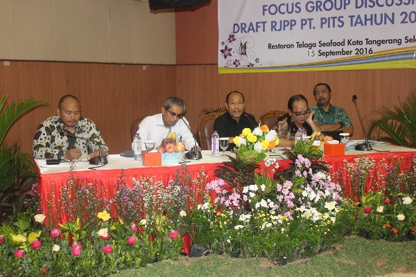 Suasana Focus Group Discuission membahas RJPP PT PITS di Serpong. (nad)