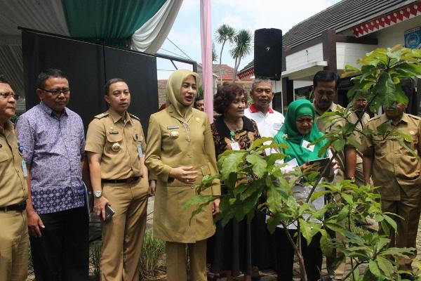 Tim dari Kemenkes didampingi Walikota Tangsel melakukan penilaian TOGA di Kelurahan Serua. (nad)