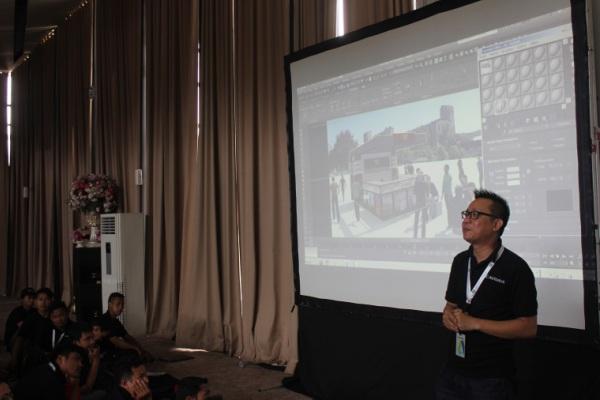 Suasana Gathering Pecinta Desain Teknik yang digelar BSD City dan AutoCAD. (nad)