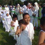 Ribuan Anak TK Ikut Latihan Manasik Haji di Ciputat