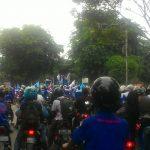 Demo Buruh Picu Macet di Jalan Raya Pemda Tigaraksa