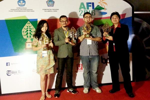 Para juara yang berhasil menyabet penghargaan pada AFI 2016. (ist)