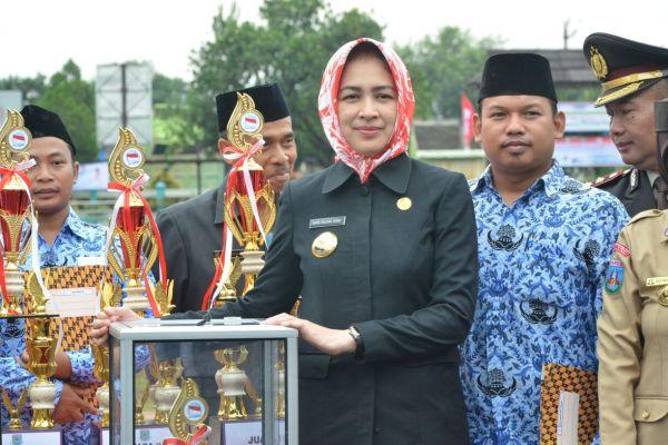 Walikota Tangsel, Airin Rachmi pada peringatan Hari Sumpah Pemuda di Serpong. (ist)