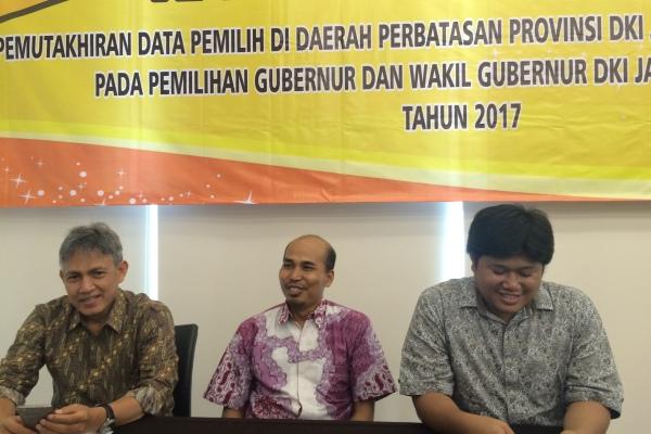Rakor Data Pemilih KPU Banten dan KPU DKI Jakarta di Serpong. (nad)
