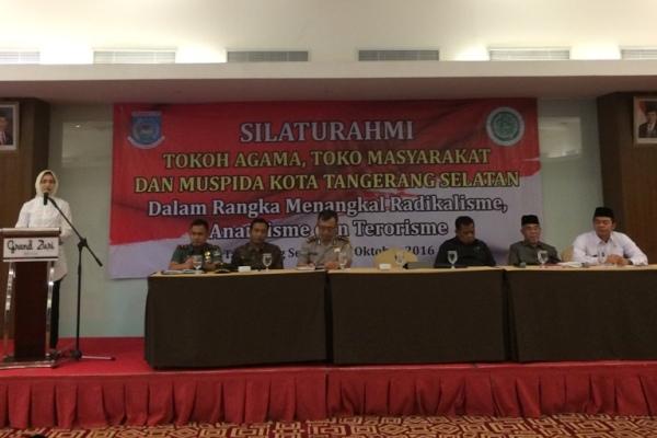 Walikota Tangsel membuka Silaturahmi tokoh agama, tokoh dan Muspida. (nad)