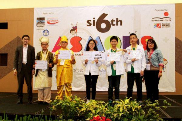 Para peraih medali pada ajang ASMOPS ke-6 di Allium Hotel Tangerang. (ist)