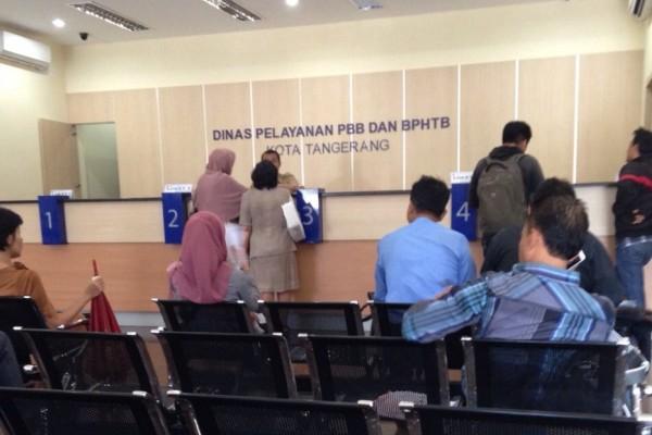 Ruang pelayanan Dinas Pelayanan PBB dan BPHTB Kota Tangerang. (ist)