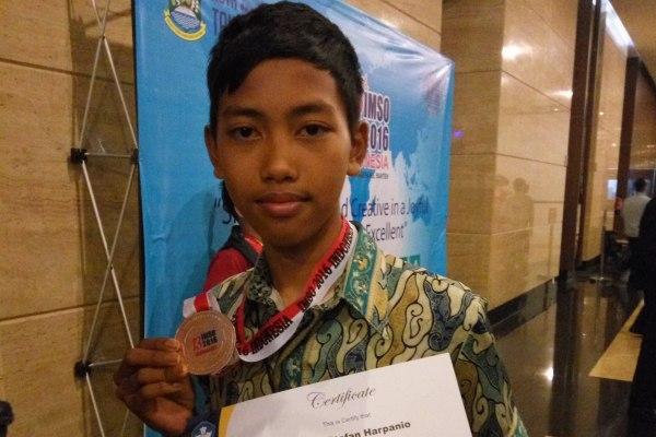 Gabriel, peraih medai perunggu ajang IMSO 2016. (pp)