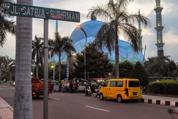 Jalan Satria Sudirman di Kota Tangerang.