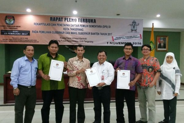 Pleno rekapitulasi DPS Kota Tangerang. (uad)
