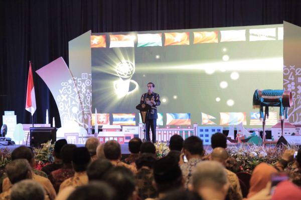 Presiden Jokowi membuka IMSO 2016 di Kota Tangerang. (pp)