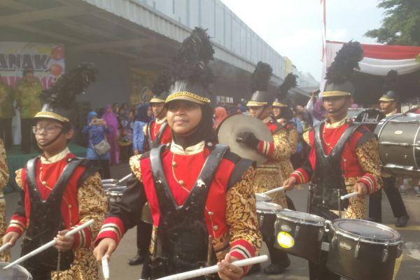 Penampilan Tiyadhita Marching Band. (pp)