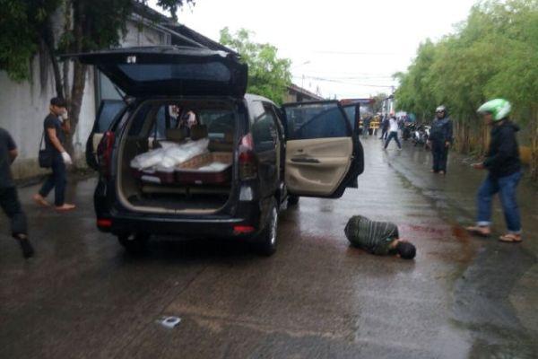 BNN menembak gembong narkoba di Kosambi. (pp)
