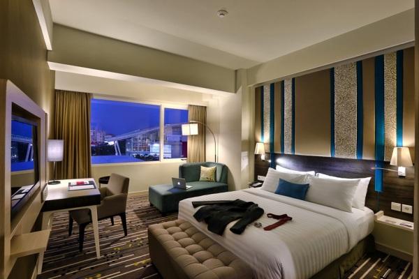 Salah satu kamar di Mercure Hotel Alam Sutera. (fit)