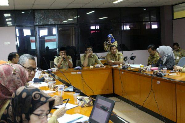 Sekda dan Dinkes Kabupaten Tangerang rapat membahas proyek RSUD Pantura. (ist)