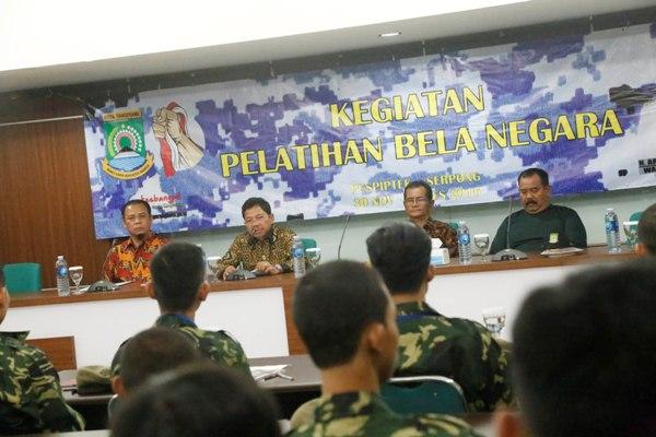 Wakil Walikota membuka kegiatan Bela Negara yang digelar Kesbangpol. (ist)