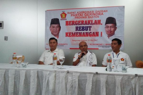 Pilkada Serentak 2018, Gerindra Banten Usung Kader Internal