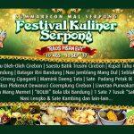 """""""Raos Pisan Euy"""" Festival Kuliner Serpong Resmi Dibuka Besok"""