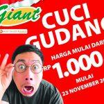 Giant Cuci Gudang, Belanja Super Murah Mulai Rp. 1.000