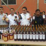 Ratusan Minuman Berkelas Internasional Dimusnahkan