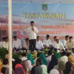 Walikota Tangerang Ajak Masyarakat Syukuri Pembangunan