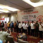 Panwaslu Deklarasikan Anti Politik Uang dan Sara