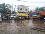 Banjir di Jalan Ciater Tangsel