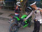 Razia Knalpot Racing Polres Serang Kota