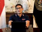 Menteri Pariwisata dan Ekonomi Kreatif, Sandiaga Salahuddin Uno sebagai pembicara utama di Wisuda XX UMN.