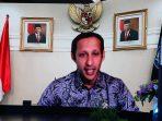 [peresmian MNP] Menteri Pendidikan dan Kebudayaan Indonesia, Nadiem Makarim memberikan kata sambutan