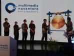 [peresmian MNP] Secara virtual, pemukulan gong dilakukan sebagai penanda resmi berdirinya MNP.